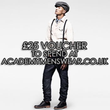 Win a £25 Voucher to spend at Academymenswear.co.uk